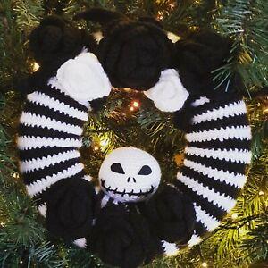 Jack Skellington Crochet Halloween Wreath PATTERN ONLY. Halloween or Christmas