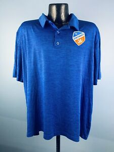 Men's Fanatics MLS Cincinnati FC Blue Polyester Short Sleeve Athletic Polo 2XL