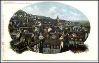 LOSCHWITZ b. Dresden Sachsen Litho-AK um 1900 Teilansicht Blick vom Burgberg