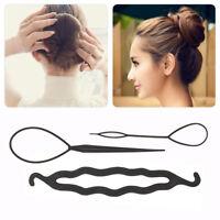 4Pcs/Set Hair Styling Accessories Clip Bun Maker Hair Twist Braid Ponytail Tool