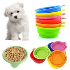 Portable Foldable Collapsible Pet Cat Dog Food Water Feeding Bowl Dish Feeder Us