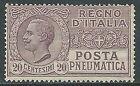 1925 REGNO POSTA PNEUMATICA 20 CENT MNH ** - W274