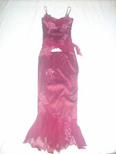 Mandalay 2 Piece Dress Size 2 Burgundy gorgeous Sale