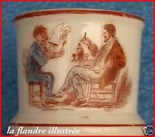 """rarissime et authentique pyrogène d'estaminet 1900 en faience """" quel bon tabac """""""