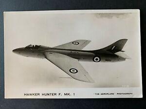 RPPC Postcard British Hawker Hunter F. MK1 - RAF Fighter Jet