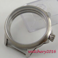 45mm Brushed 316L stainless steel Watch CASE fit 6498 6497 movement