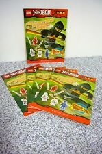 5 COPIES NEW Lego Ninjago 100 Collector's Sticker Book Scholastic Paperback Book