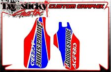 HONDA CRF 125/150/250/450 LOWER FORK GUARD GRAPHICS STICKERS   ALL YEARS