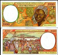 CENTRAL AFRICAN STATE EQUATORIAL GUINEA 2000 FRANCS 1995 P 503 NG UNC