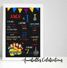 The Wiggles First Birthday Personalised Milestone Print Party Decorations 1st