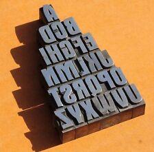 A-Z Bleischrift 27 mm Bleialphabet Buchstaben Stempel Bleistempel letterpress