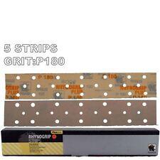 Rhynogrip Plusline 70x420mm P180 Grit 5x HookNLoop Grip Abrasive Sanding Strips