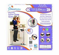 Dreambaby EMPIRE MAGNETIC SURE-CLOSE GATE Silver kid child toddler safety pets