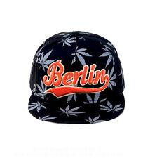 ROBIN RUTH Basecap Berlin NEU Snapback Cap Kappe Hanf Symbol Schwarz Orange Grau