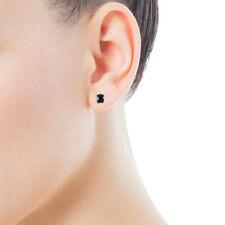 New Hot Fashion Women Earrings Simple Black Bear Stainless Steel Earrings