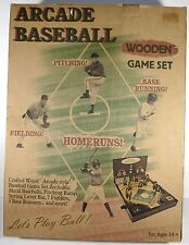 c.2004 Merkury Innovation Lets Play Ball Series Arcade Baseball Wooden Game OB