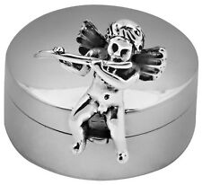 CHERUB WITH FLUTE PILLBOX STERLING SILVER 925 HALLMARKED NEW FROM ARI D NORMAN