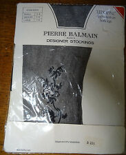 Pierre Balmain Black Ankle Motif Stockings