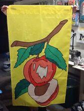 Peaches / Fruit Large Handmade Decorative Flag
