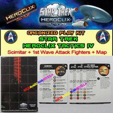 STAR TREK HEROCLIX TACTICS IV OP KIT- Scimitar + 1st Wave Attack Fighters + Map