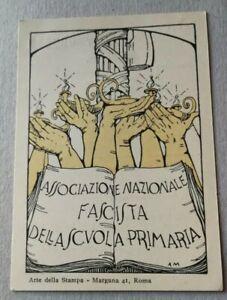Tessera fascista PNF associazione scuola primaria Catania Sicilia Duce Mussolini