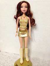 Barbie My Scene Chelsea Club Disco Doll Dressed Gold Star Top Belted Skirt Boots