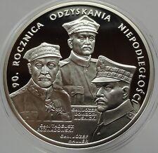 20 ZLOTYCH POLAND 2008  Silver 925 90 Rocznica Odzyskania Niepodległości