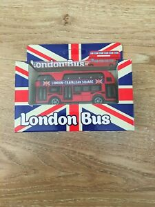Double Decker London Transport Bus Die-cast Vehicle Toy with Pullback Motor***