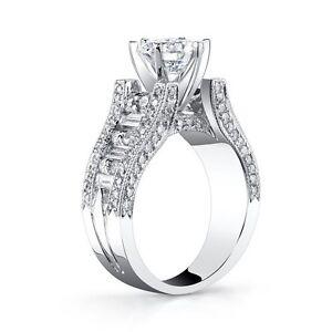 """""""Gregorio"""" Beautiful Robust Design 1.8ctw Diamond Semi Mount G VS  Platinum 950"""
