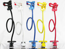 Universal Cell Phone/ Gps/ Pda Holder Gooseneck Arm Clip-On Double-Clip Clamp