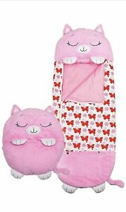 Happy Nappers Sleeping Bag Kids Girls Play Pillow Pink Kitty Cat