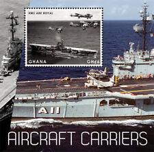 Ghana - Aircraft Carriers Stamp- Souvenir Sheet MNH