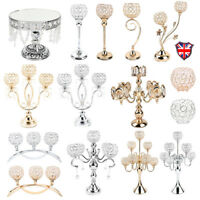 Crystal Candle Holders Candlesticks for Dining Room Wedding Table Centerpieces