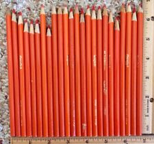 Lot of 24 Crayola Orange Colored Coloring Pencil Used 5 Inches and Longer