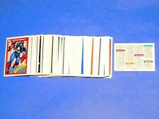 1990 MARVEL UNIVERSE SERIES 1 COMPLETE 162 CARD SET IMPEL SPIDER-MAN AVENGERS