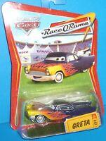 2009 Disney Pixar The World of Cars Greta #81 Race O Rama NEW VHTF