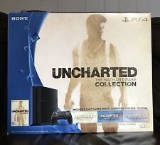 Sony PS4 System & Controller Black BOX & INSERTS ONLY Uncharted Nathan Drake