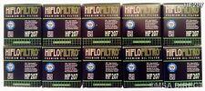 KAWASAKI KX250F (de 2004 a 2017) HIFLOFILTRO FILTRO DE ACEITE (HF207) X 10 Pack