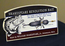 William Shakespeare Jr Company Revolution Bait Lure Stand Up Ad Kalamazoo Mich
