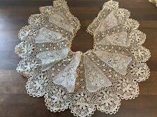 Col en dentelle ancien antique lace collar