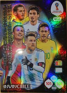 Adrenalyn XL Russia 2018 Top Master Invincible Double Trouble Game Changer Icon