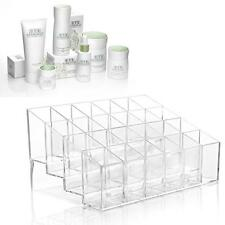 24 Grid Stair-Step Acrylic Makeup Case Lipstick Storager Cosmetic Organizer  MT