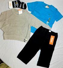 Pant Set Gymboree 5pc Black Oatmeal Shirt Tee Boys sz 12/18 mo New