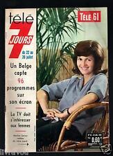 ►Télé 7 Jours N° 70 de 1961 M.SARCEY_MOULOUDJI_MIREILLE DARC_REGGIANI