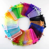 100Pcs Organza Wedding Party Favor Bag Decor Gift Candy Sheer Bags Pouches