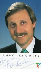 ANDY KNOWLES AUTOGRAPH BBC MIDLANDS SPORTS PRESENTER