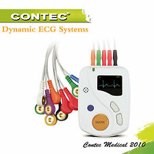 12leads ECG EKG Holter Recorder 48 Hours Dynamic ECG System analysis pc software