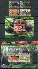 Papua Neuguinea 2009 Ölpalme Bäume Trees 1468-71 Block 93-94 Postfrisch MNH