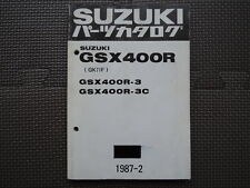 JDM SUZUKI GSX400R GK71F 3 3C Original Genuine Parts List Catalog GSX 400 R