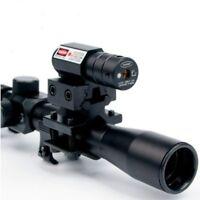 1X Tactical Air Rifle Gun 4x20 Optic Scope Reticle Red Dot Sight Rail Mount US